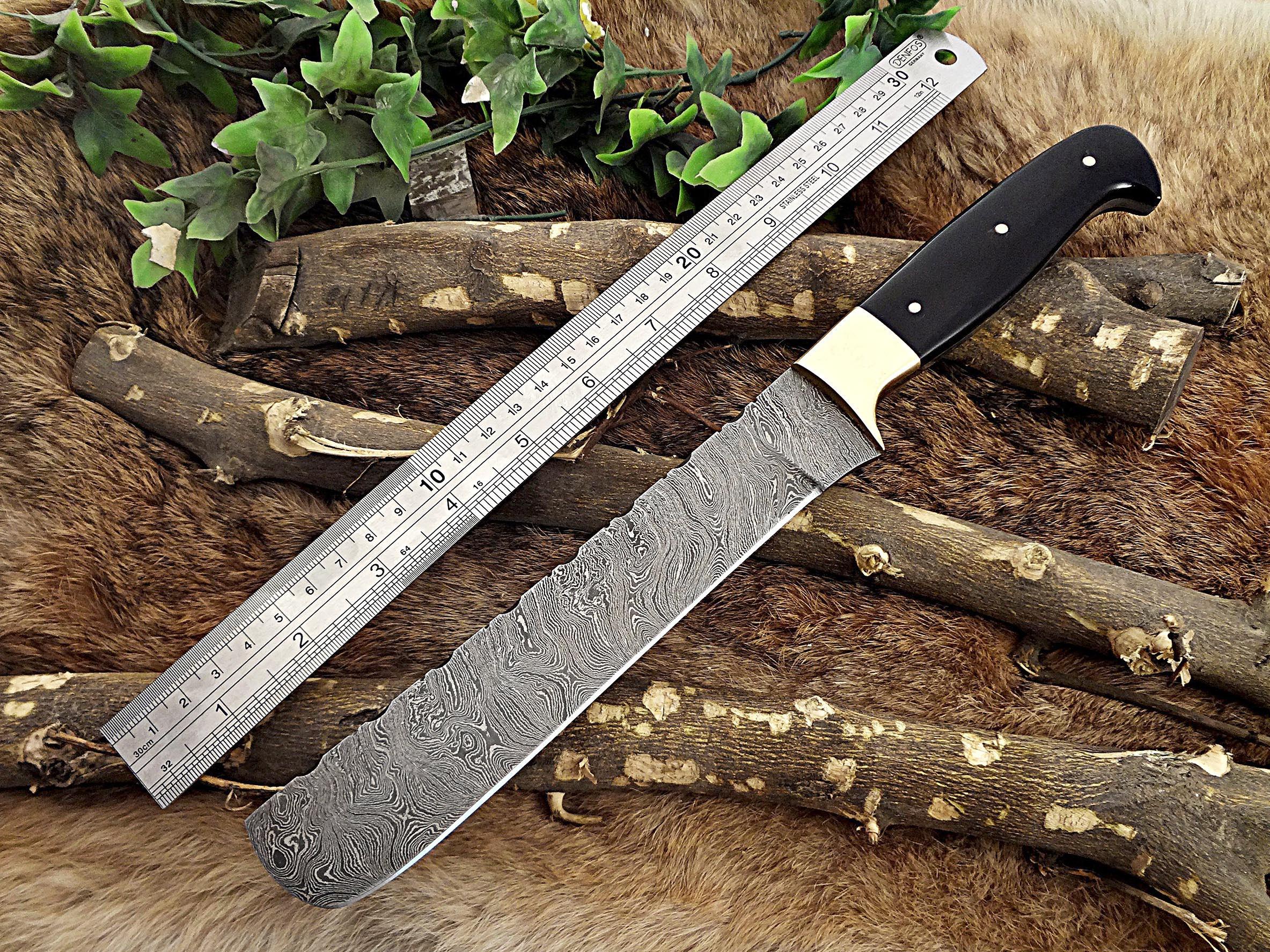 13 5 Inches Long Custom Made Damascus Steel Full Tang 9