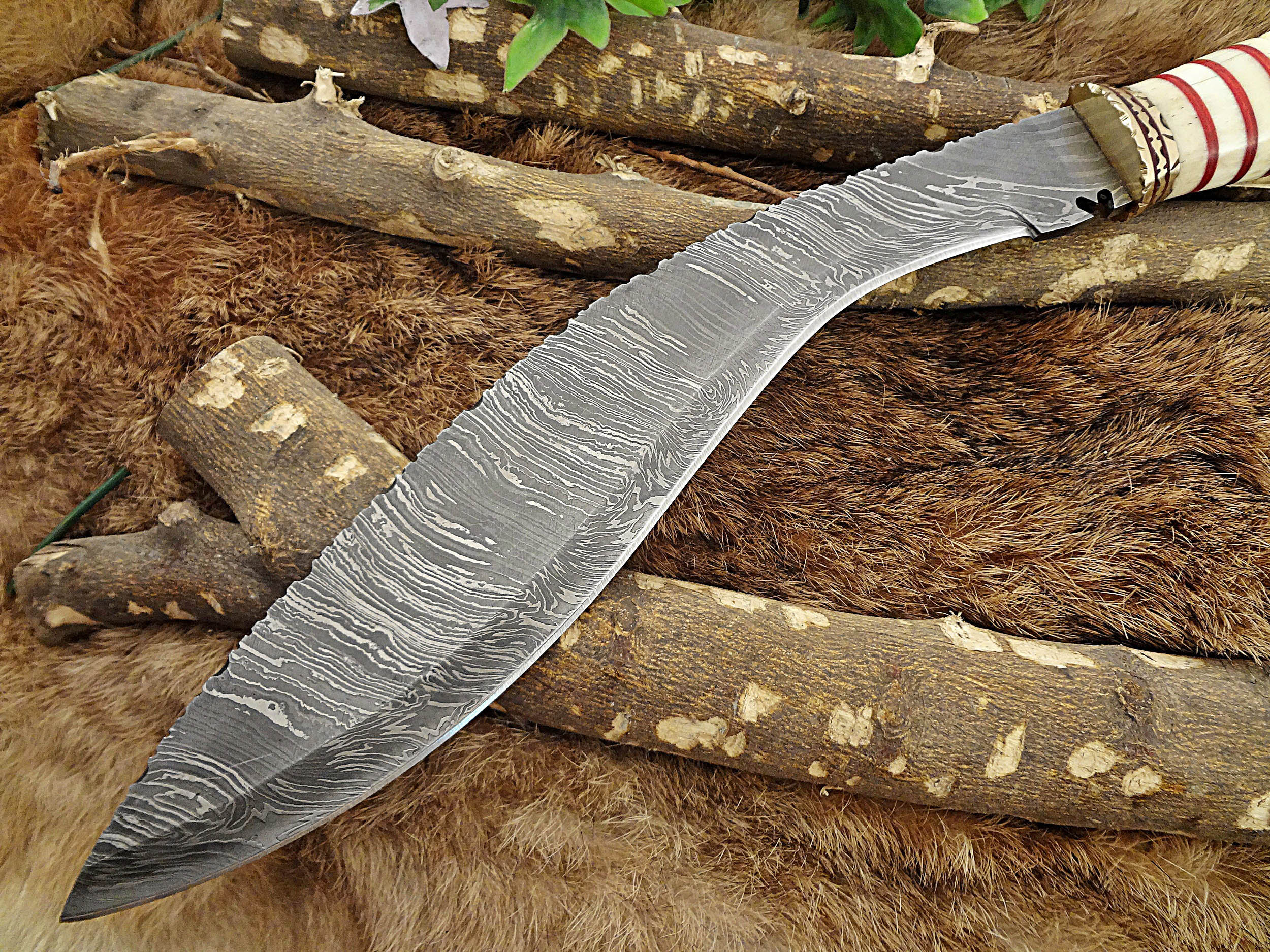 15 custom made hand forged damascus steel kukri knife with 10 blade camel bone with engraved. Black Bedroom Furniture Sets. Home Design Ideas