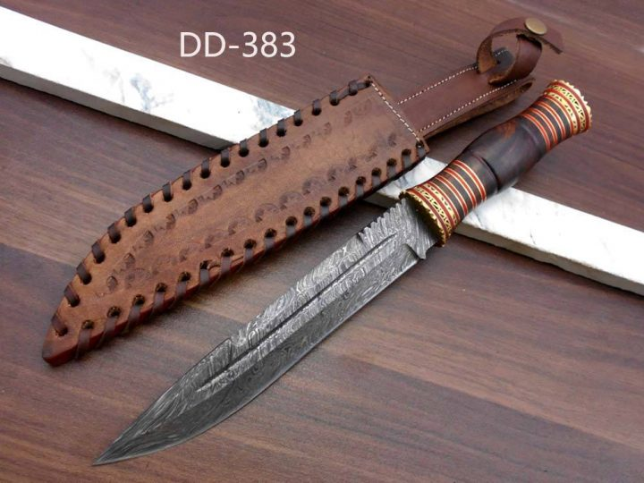 13 Hand Forged Damascus Hunting Knife 7 Blade Exotic