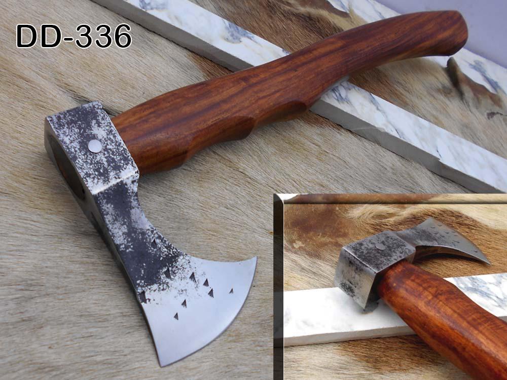 Damascus Depot High carbon steel tomahawk Axe Bearded hiking battle